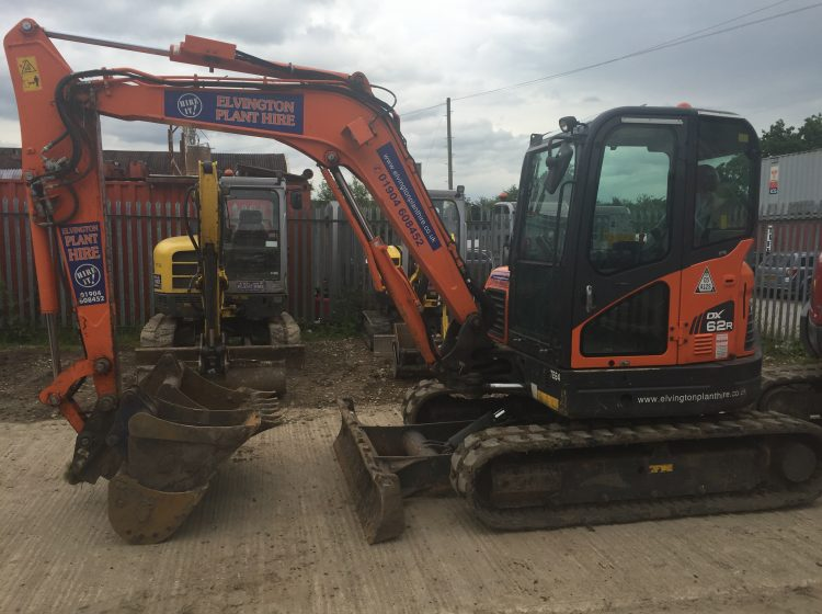 6 Tonne Tracked Excavator – Elvington Plant Hire, York